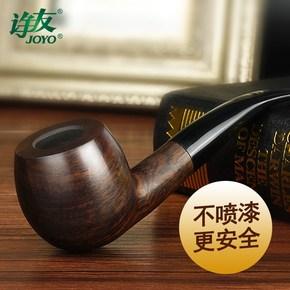 老式旱烟袋烟袋锅过滤烟嘴加长实木手工传统烟丝弯式中国烟斗