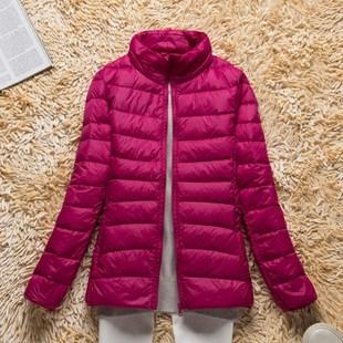 正品特价反季清仓处理立领超轻便轻薄款羽绒服女装短款冬季大码潮