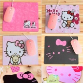 游戏办公笔记本电脑鼠标垫 kitty防滑布垫 hello 可爱鼠标垫 卡通
