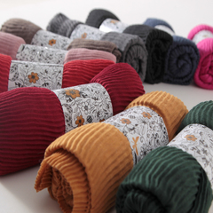 棉麻褶皱围巾