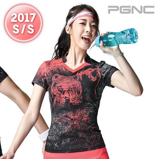 2017春夏新品韩国佩吉酷Peggy女羽毛球服运动服速干吸汗短袖T恤36
