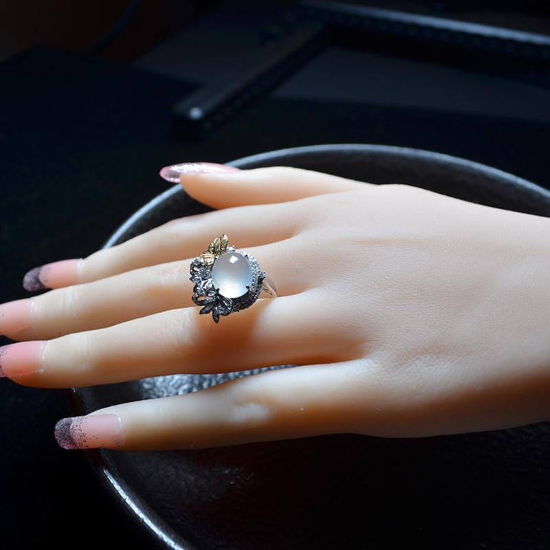 翡翠黄金戒指