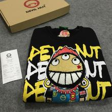 Tide Deil Nut Devil Fruit Guard Clothes with Round Neck Cartoon for Men and Women