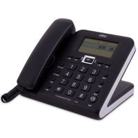 Deli 790 telephone home office wired landline hands-free voice broadcast caller ID alarm clock