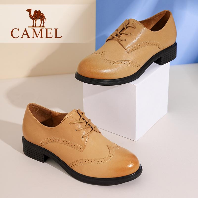 骆驼女鞋圆头深口单鞋