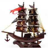 一帆风顺龙船开业乔迁办公商务创意礼品 红木帆船模型工艺品摆件图片