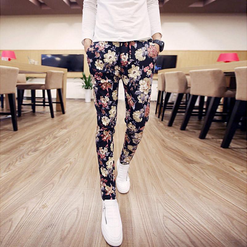 时尚花色长裤