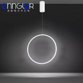 艺术餐吊灯 创意个性楼梯圆环形竖吊灯大厅现代工程灯服装店灯饰