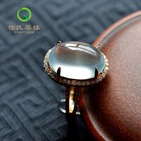 徐氏翠缘珠宝 天然水晶 18K葡萄石戒指指环 配带证书