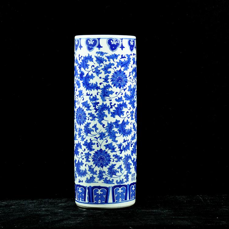 客厅蓝色青花瓷