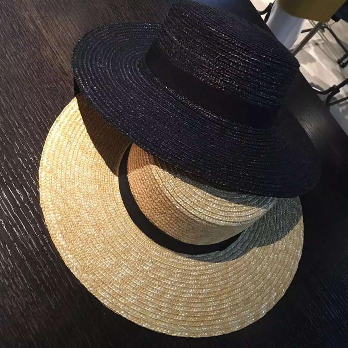 草编大檐礼帽
