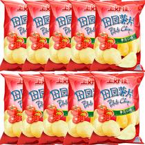 歌歌烤鸡味薯片网红零食大容量小吃膨化食品kobkob进口117泰国