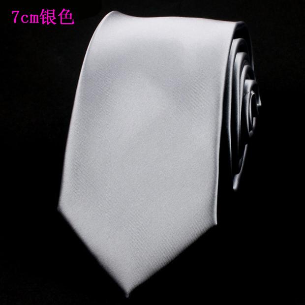 灰色西服领带