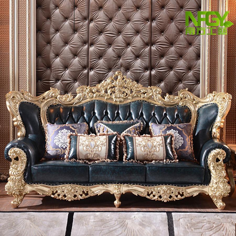 欧式沙发皮真皮宫廷