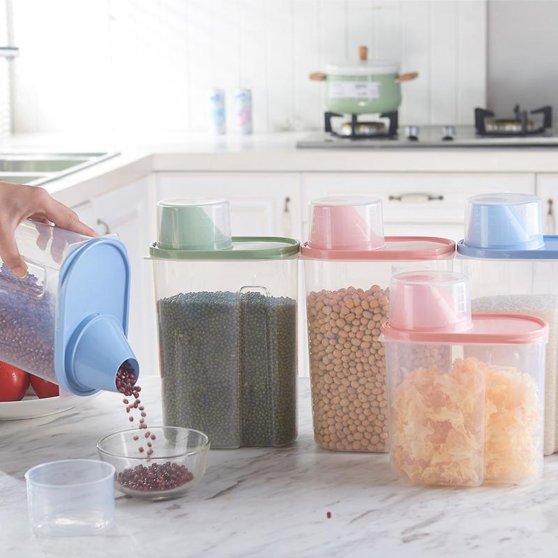 继红 创意厨房有盖防虫密封罐五谷杂粮储物罐厨房用品防霉收纳罐