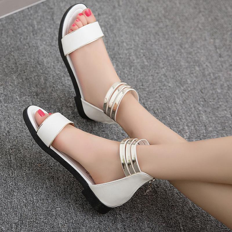 豹纹凉鞋平底