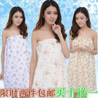 Beauty salon guest skirt customer tube top bathrobe bath skirt summer bath towel female steaming clothes cotton wrapped chest pajamas dress