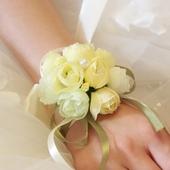 伴娘手腕花 结婚庆用品手腕花 韩式仿真姐妹手腕花 舞蹈手腕花