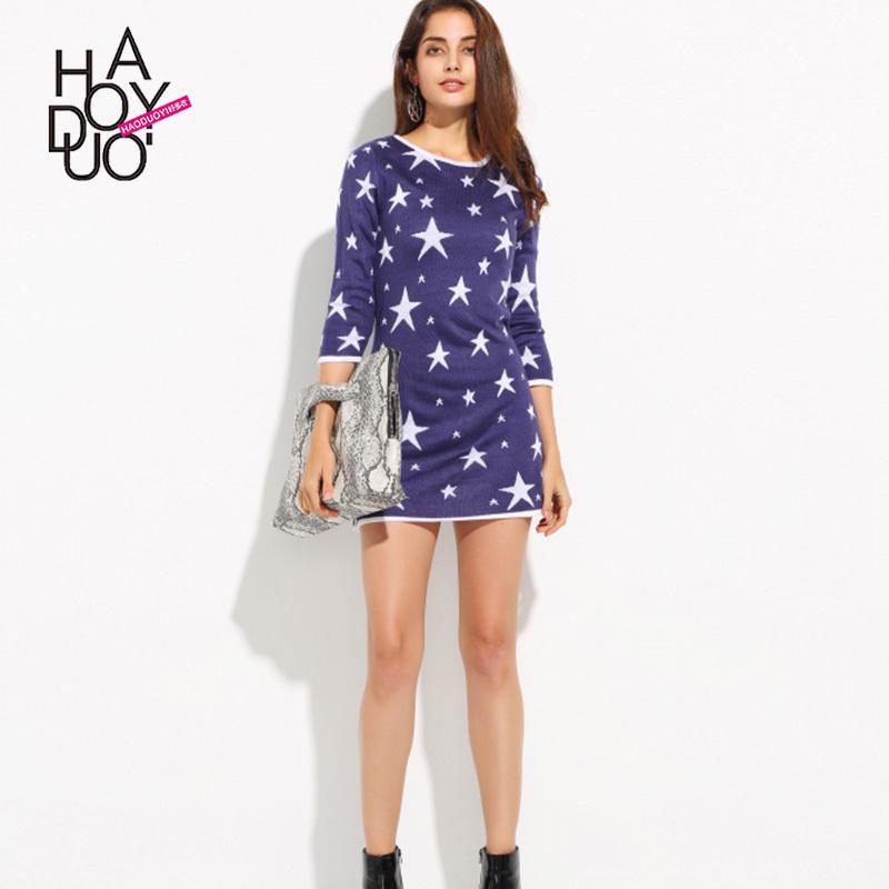 五角星针织裙