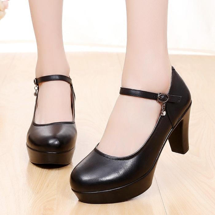 高跟鞋8cm圆头