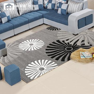 新家喜加密丙纶丝客厅茶几立体剪花地毯加厚现代简约卧室床边地毯是什么档次