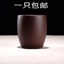 宜兴正宗纯全手工紫砂杯品茗紫泥小口杯小茶杯主人杯功夫茶道配件