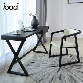 书房书桌现代简约小户型家具新中式实木腿北欧书台家用办公写字台