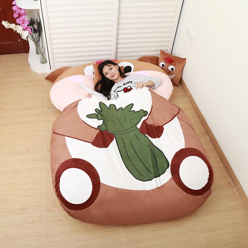 龙猫床垫榻榻米12生肖马卡通懒人沙发床垫可爱折叠拆洗褥子加厚冬3元优惠券