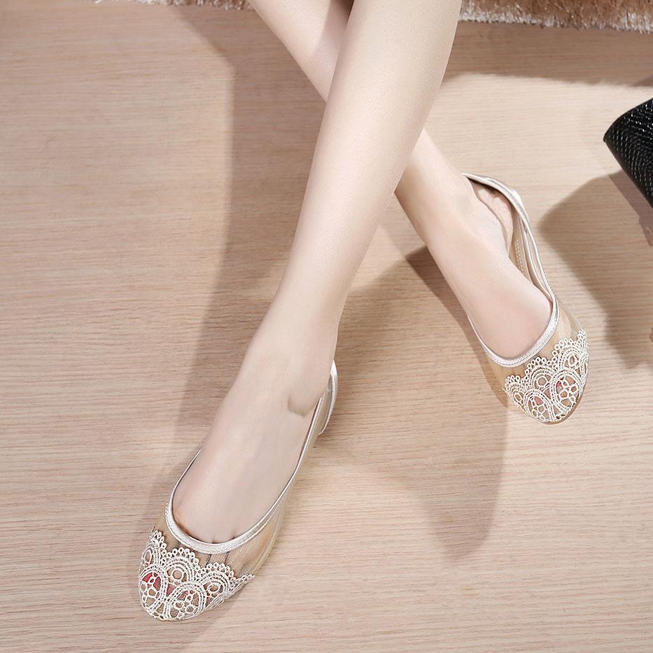 透明平底鞋女