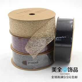 满包邮装饰雪纺纱丝带手工韩国进口雪纱带彩色绸带织带DIY蝴蝶结