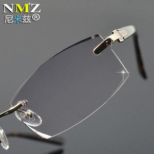 老花镜男切边无框板材老光眼镜中老年看手机报纸用放大眼镜女款