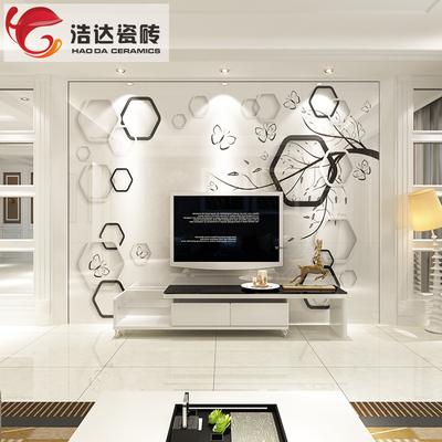 电视背景墙瓷砖 大理石简约现代客厅墙砖 3d微晶石背景墙造型装饰