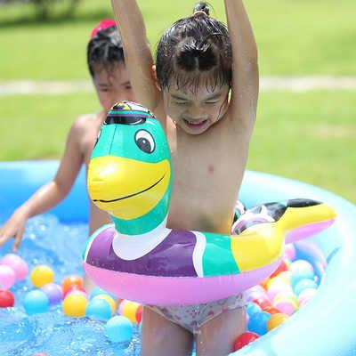 水迪动物造型儿童游泳圈宝宝腋下圈用嘴巴能充气