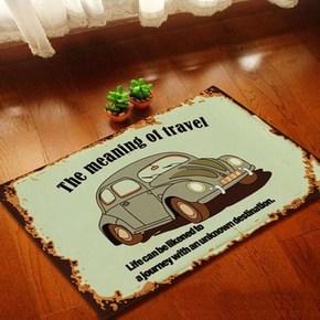 北欧现代简约风格绒面卧室卫浴地垫厨房客厅门垫进门脚垫床边地毯