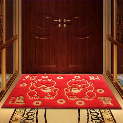 大门口出入平安地垫进门厅塑料丝圈加厚家用脚垫地毯入户门口门垫