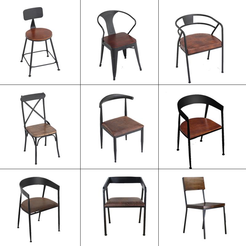 实木酒吧椅子靠背椅