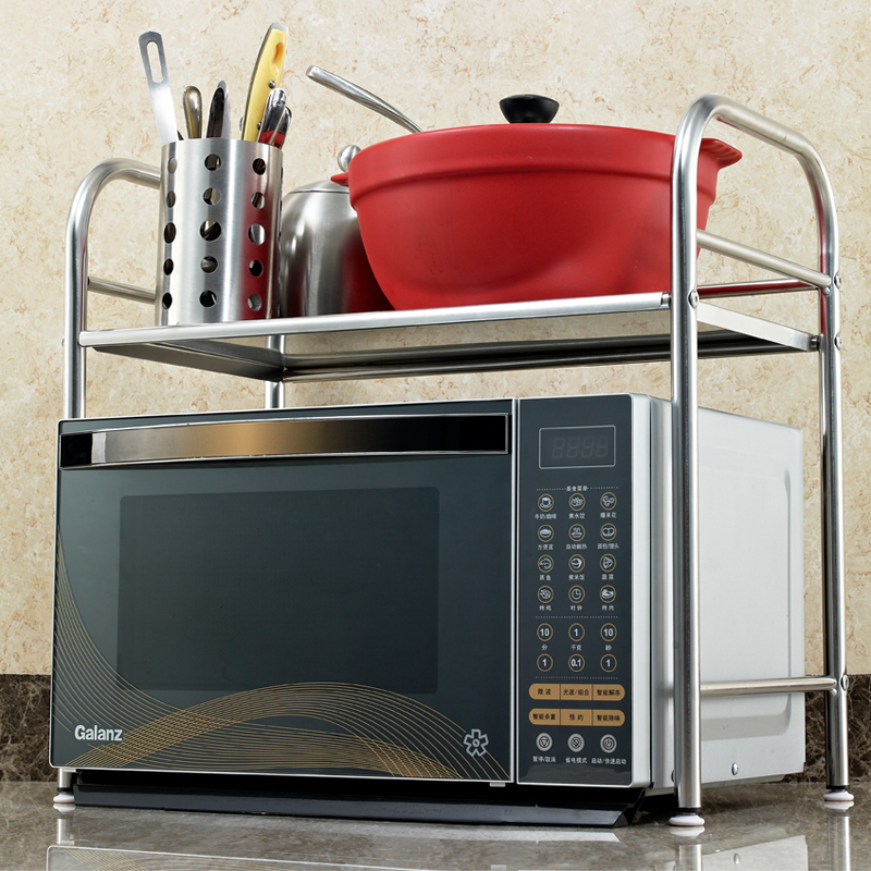 厨房置物架微波炉架落地不锈钢锅架厨房用品收纳储物架5元优惠券