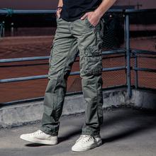 工装裤男长裤宽松潮多口袋休闲裤大码男士户外运动军裤子美邦豪爵