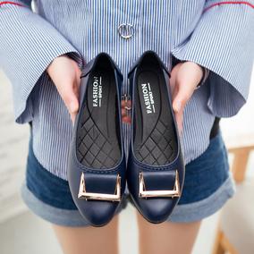 春季妈妈鞋单鞋软底舒适中老年平底女鞋防滑老人休闲皮鞋女工作鞋