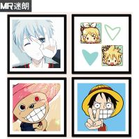 Fan lang diy digital painting cartoon character character children puzzle digital hand-painted color painting decorative painting