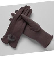 触屏手套女秋冬加绒棉女式保暖手套触摸手套女款冬季开车春秋单层