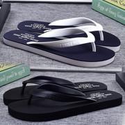 夏季韩版潮流人字拖男士防滑夹脚橡胶室外休闲沙滩凉拖鞋时尚外穿