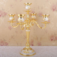 Home Decor Candle Holder European Candlestick Wedding Wedding Hotel Club Candlelight Dinner 5 Head Three Candlesticks