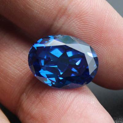 蓝宝石戒指戒面裸石女士简约斯里兰卡椭圆形粉熔矢车菊蓝宝未镶嵌