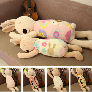 可爱睡姿趴趴兔安抚兔子公仔睡觉抱枕大号毛绒玩具陪睡玩偶布娃娃