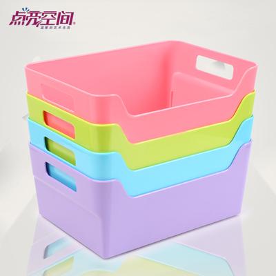 点亮空间化妆品摇控器桌上文具收纳盒塑料简约办公用品桌面收纳架