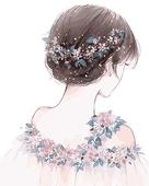 【佳彩天颜】 diy数字油画情侣卡通动漫大幅手绘装饰 浪漫婚纱