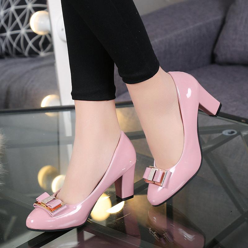 女式春秋皮鞋时尚款