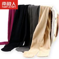 南极人天鹅绒连裤袜女士春秋季打底薄款中厚长筒丝袜踩脚黑色肉色