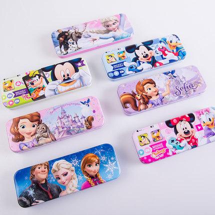 迪士尼小学生多功能文具盒卡通铅笔盒